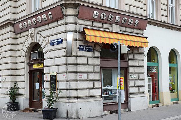 Bonbons: 1090 Wien, Bauernfeldplatz 4